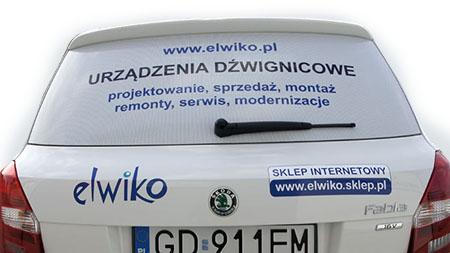 Folia one way vision pozwala wykonać reklamę na szybach samochodu zachowując widoczność z wewnątrz pojazdu.