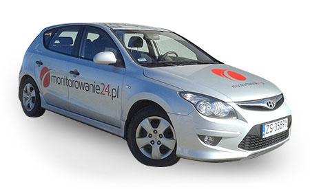 Grafika na samochodzie wycięta z folii i naklejona. Drukarnia Designer Szczecin zapewnia profesjonalne usługi z zakresu reklamy wizualnej.