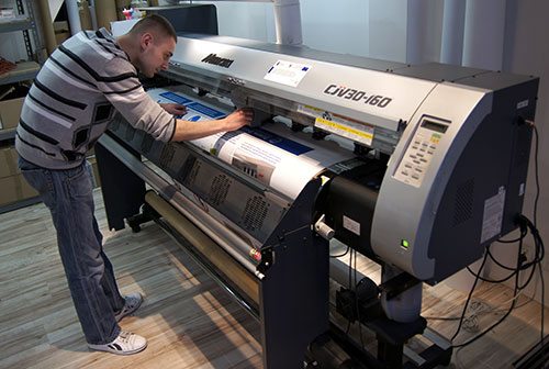 Przygotowanie plotera solwentowego do druku