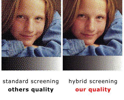 Porównanie rastra hybrydowwego i klasycznego