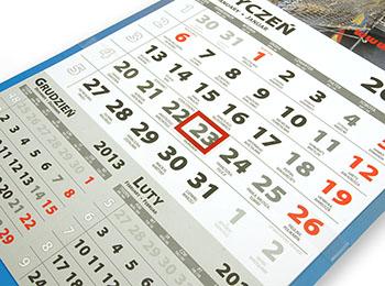 Estetyczne trwałe kalendarium dwudzielne, nie rozpada się jak w tanich kalendarzach nie robiąc antyreklamy Twojej firmie