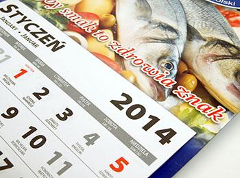 główka i plecy kalendarza jednodzielnego drukowane w jednym arkuszu!
