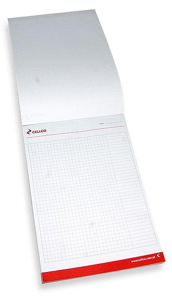 Notes firmowy może posiadać wnętrze wydrukowane w kratkę, linie lub wg indywidualnego projektu wedle uznania klienta.