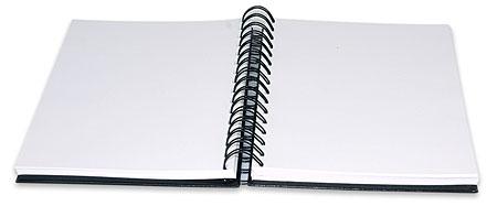 Notes na spirali, otwarty - czysty