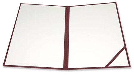 Okładka na dyplom otwarta