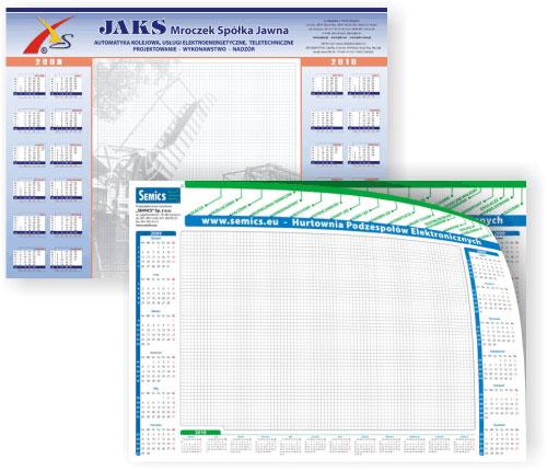 podkłady biurkowe z kalendarzem - planery