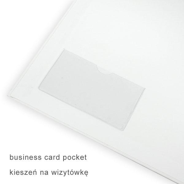 Kieszeń na wizytówkę w reklamowym segregatorze firmowym